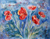 Red poppies Royalty Free Stock Photography