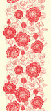 Red poppy flowers vertical seamless pattern border Royalty Free Stock Image