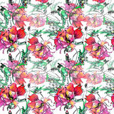 Red poppy , image,  watercolor pattern seamless Stock Images