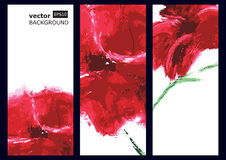 Red poppy, oil painting. Vector background.  Royalty Free Stock Photo