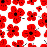 Red poppy pattern Stock Photos