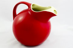 Red porcelain pitcher Royalty Free Stock Photography