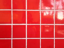 Red porcelain tiles Royalty Free Stock Photo