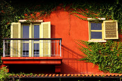 Red porch Royalty Free Stock Image