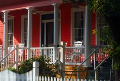 The red Porch Royalty Free Stock Photos