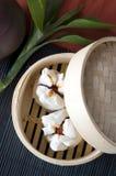 Red pork chinese bun Royalty Free Stock Image
