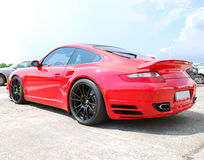 Red Porsche 911 Royalty Free Stock Photos