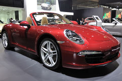 Red Porsche 911 Carrera Cabriolet Stock Images