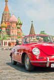 Red Porsche-Convertible-D-1958 Stock Photo