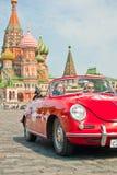 Red Porsche-Convertible-D-1958 stock photo