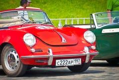 Red Porsche-Convertible-D-1958 Stock Photos