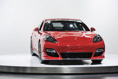 Red Porsche  Panamera GTS Royalty Free Stock Image