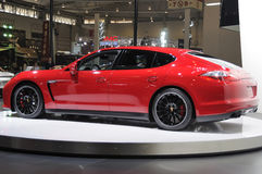 Red Porsche Panamera GTS Stock Images