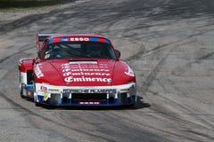 A red Porsche in the race Royalty Free Stock Photos