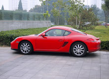 Red Porsche Sport Car Royalty Free Stock Photos