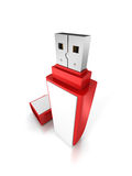 Red Portable Flash Usb Drive Memory Stick Royalty Free Stock Images