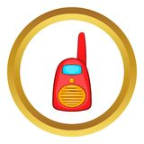 Red portable handheld radio vector icon Royalty Free Stock Photos