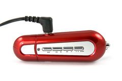 Red portable mp3 player Royalty Free Stock Images