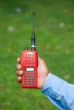 Red portable radio Royalty Free Stock Photos