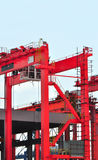 Red portal jib crane Royalty Free Stock Image