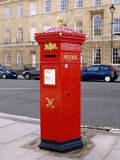 Red Post Box. Traditional British Red Post Box of the Victorian Era Royalty Free Stock Photography