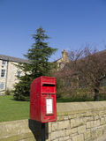 Red Post Box in the orphanage Village of Edgeworth Bolton England Stock Photography