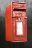 Red Post Box UK. Red Square Postbox in UK Royalty Free Stock Photos