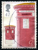 Red Post Box UK Postage Stamp Stock Images