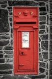 Red Post Box In Wall Royalty Free Stock Images