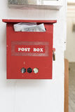 Red Post Box Royalty Free Stock Photo