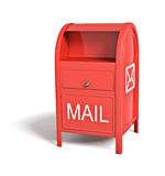 Red post box Royalty Free Stock Images