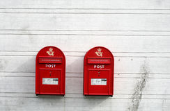 Red post boxes Royalty Free Stock Photography
