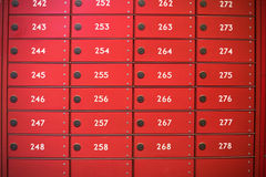 Red post boxes Royalty Free Stock Photos