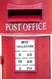 Red post office box Stock Image