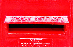 Red Post Office Box Slot Royalty Free Stock Photography