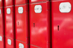 Red post office boxes Royalty Free Stock Image