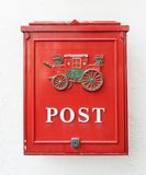 Red postbox. Travle on Norway Royalty Free Stock Photos