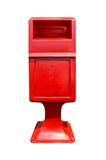 Red postbox isolated. Stock Photo