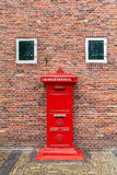 Red postbox in Netherlands. Stock Photo