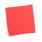 Red postit. Note with white background Royalty Free Stock Photography