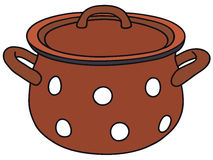 Red pot Stock Images