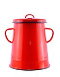 Red pot isolated on white Royalty Free Stock Images