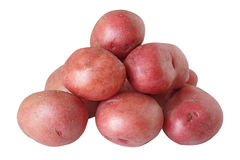 Red Potatoes. Pile of red potatoes isolated on white background Royalty Free Stock Image
