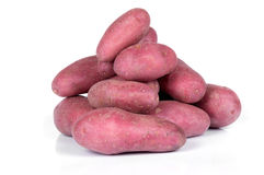 Red potatoes on. White background Stock Images