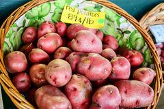 Red potatoes in a basket Royalty Free Stock Image