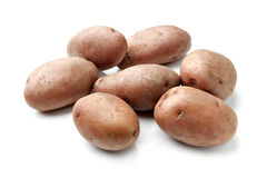 Red Potatoes Isolated on White Royalty Free Stock Image