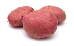 Red potatoes isolated Stock Photos