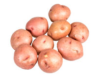 Red potatoes isolated on white Stock Photography