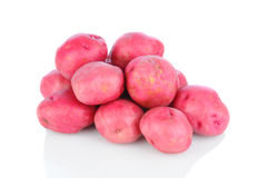Red Potatoes on White Royalty Free Stock Images