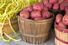 Red Potatoes and Yellow Beans Stock Photo
